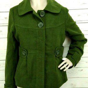 BB DAKOTA Women's Green Peacoat Jacket